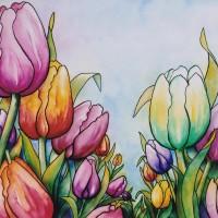 Veelkleurige tulpen